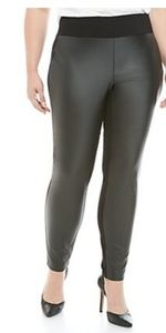 Kaari Blue faux leather (front only) leggings